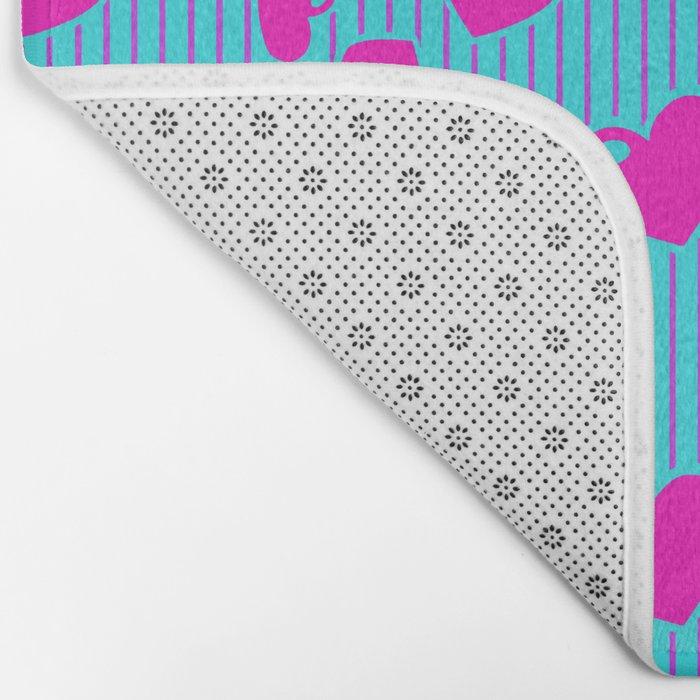 Love in a Stripe  Bath Mat