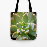 succulent Tote Bags featuring Succulent by Wandering Star Trails