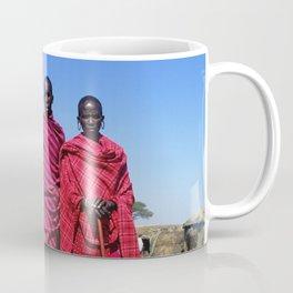 3 African Men from the Maasai Mara Coffee Mug