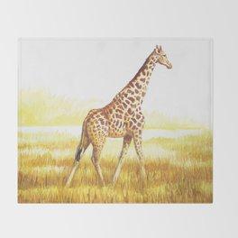 Giraffe painting Throw Blanket