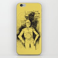 c3po iPhone & iPod Skins featuring C3PO by Samantha Chiusolo