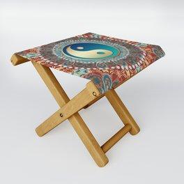 Bohemian Batik Yin Yang Folding Stool
