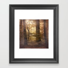Autumn Came, With Wind & Gold. Framed Art Print