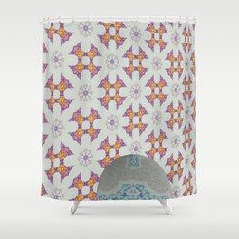 Hawaiian Diamond Header WallBall12 Shower Curtain