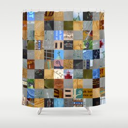 Pieces of Pictures Collage Shower Curtain