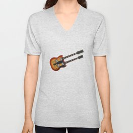 Double Neck Guitar Unisex V-Neck