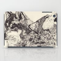 wolves iPad Cases featuring Wolves by Maria Gabriela Arevalo Reggeti