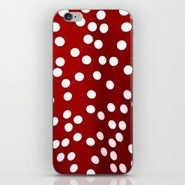 Red Polka Dots iPhone Skin