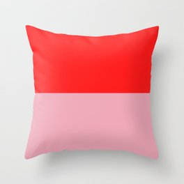 Watermelon Red & Peach Pink Throw Pillow