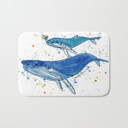Whale Mommy and Baby Bath Mat