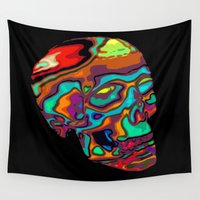 lsd Wall Tapestries featuring LSD Skull by johannesart