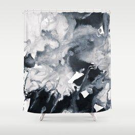 inkblot marble 8 Shower Curtain