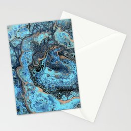 Lapis Lazuli 1 - Acrylic Flow Abstract Stationery Cards