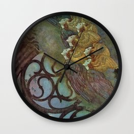 """""""The Bells"""" Fairy Tale Art by Edmund Dulac Wall Clock"""