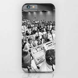 Members of the Kennedy Space Center government-industry team rise from their consoles within the Lau iPhone Case
