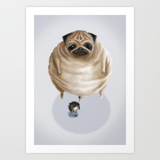 The Pug Art Print