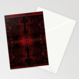 Snake Skin In Red Stationery Cards