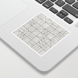 My Favorite Geometric Patterns No.3 - Grey Sticker