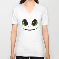 toothless V-neck T-shirts featuring Toothless by K-Bear