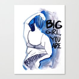 Big girl Canvas Print