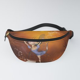 Fairy dancing on a piano Fanny Pack