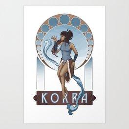 Korra Nouveau Art Print
