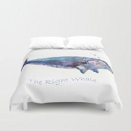 Rigth Whale artwork Duvet Cover