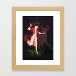 hunt of tender hearts Framed Art Print