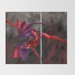 Pole Creatures: Dragon Throw Blanket