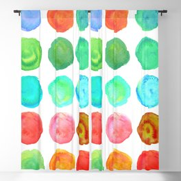 Marble Watercolor Forest Blackout Curtain