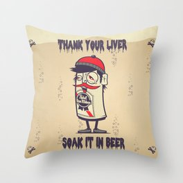 Thank Your Liver Throw Pillow