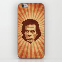 nick cave iPhone & iPod Skins featuring Cave by Durro