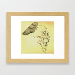 Winged Skull Framed Art Print