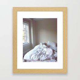 White Sheets Framed Art Print