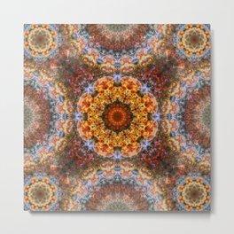 Grand Galactic Alignment Mandala Metal Print