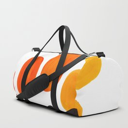Mid Century Modern Colorful Minimal Pop Art Yellow Orange Ombre Rainbow Gradient Pebble Ovals Duffle Bag