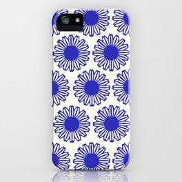 vintage flowers blue  iPhone Case