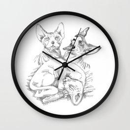 Sphynx Cats Wall Clock