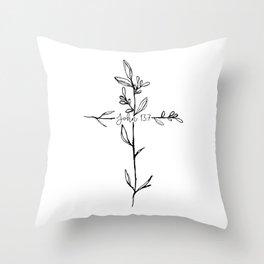 John 13:7 Cross Throw Pillow