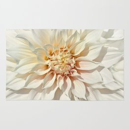 Dahlia white macro 043 Rug