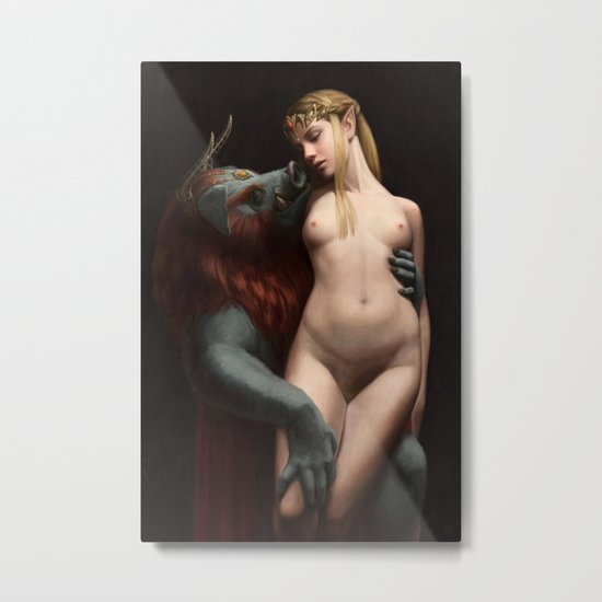The Beast and The Princess -- Nude Metal Print