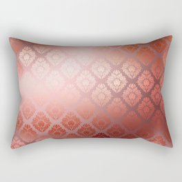 """Millennial Pink Damask Pattern"" Rectangular Pillow"