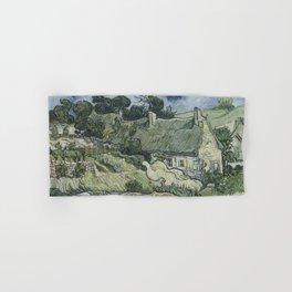 Vincent van Gogh - Thatched cottages as Cordeville, Auvers-sur-Oise Hand & Bath Towel