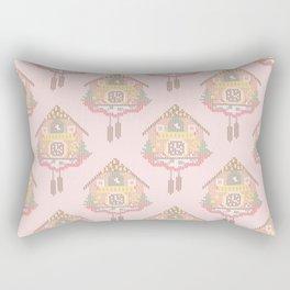 Cuckoo Clock Cross Stitch Pattern Rectangular Pillow