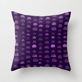 Hills - Plum Throw Pillow