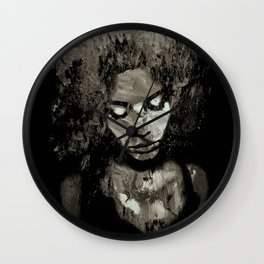 Melancholy and the Infinite Sadness Black and White Wall Clock