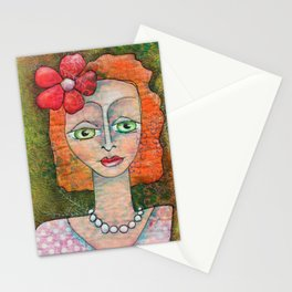 Pearl Necklace Stationery Cards