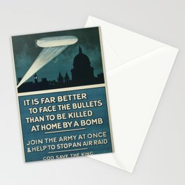 It is far better to face the bullets - WWI Poster Stationery Cards