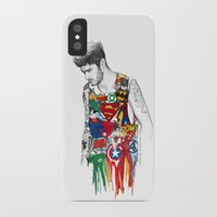 zayn iPhone & iPod Cases featuring Zayn Superhero  by Coconut Wishes