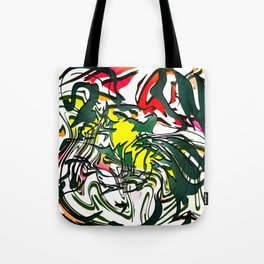 Abstract Colorful Ink Tote Bag